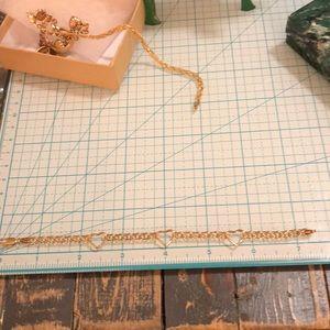 Jewelry - 10kt yellow gold heart link bracelet❤️